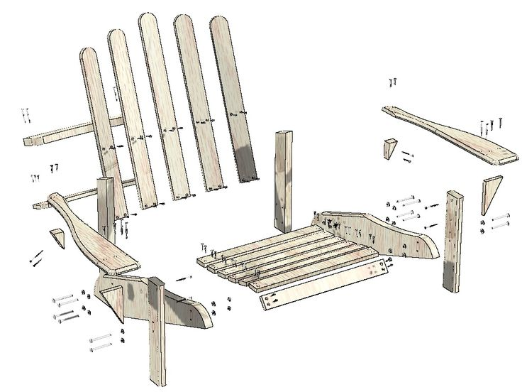 Free Adirondack Lawn Chair Woodworking Plan   WoodWorking Projects U0026 Plans