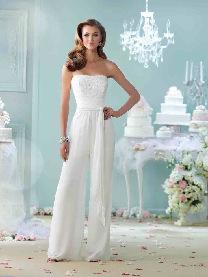 Don't wear dresses? Bridal overall is for you!  Editor's Pick: Utterly Beautiful Wedding Dresses - MODwedding