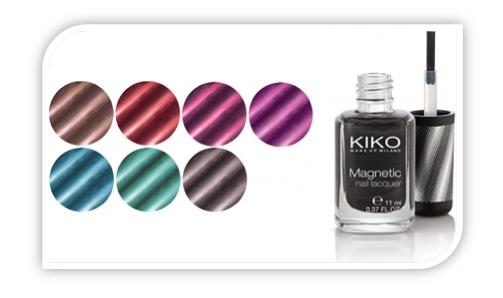 Esmalte magnético de Kiko Cosmetics..  +Info. http://www.deli-cious.es/index.php/laca-unas/638-esmalte-unas-magnetico-kiko