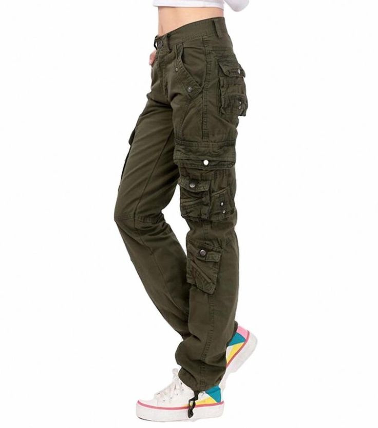 Lixmee Women'S Solid Color Regular Cargo Pants at Amazon Women's Clothing store: