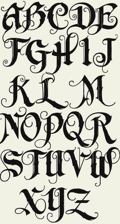 letras graffiti abecedario cursiva - Buscar con Google