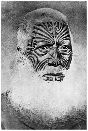 Te Karira Ruarangi. — A chief and tohunga of Pakaraka, Waitotara ...