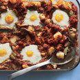 Baked Eggs with Merguez Sausage, Tomatoes, and Smoky Paprika recipe | Epicurious.com