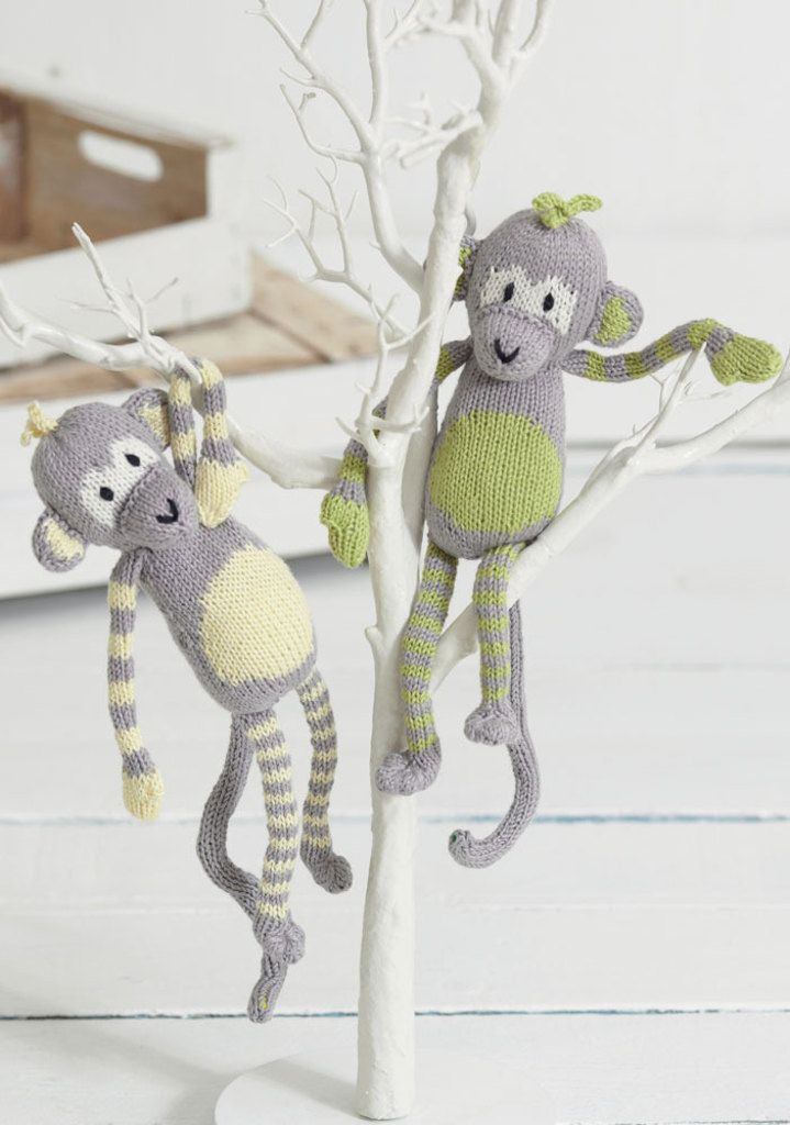 Noahs Ark - The Citrus Monkeys in Sirdar Snuggly Baby Bamboo DK Free ...