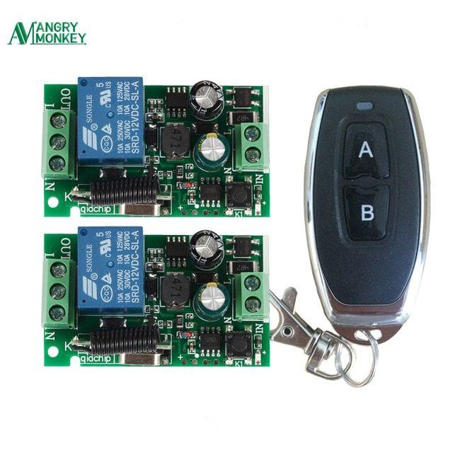 1-Channel AC 220V Wireless RF Remote Control Receiver Relay Switch 433MHz RF