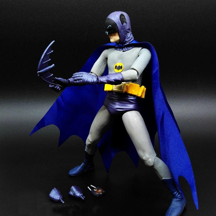 1pcs Juguetes DC Superman V BATMAN Marvel 008 justice Dark Knight Mc Bain Super Hero Aptain PVC Phantom Figures 18cm Change head