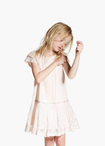 Vestido renda | MANGO KIDS