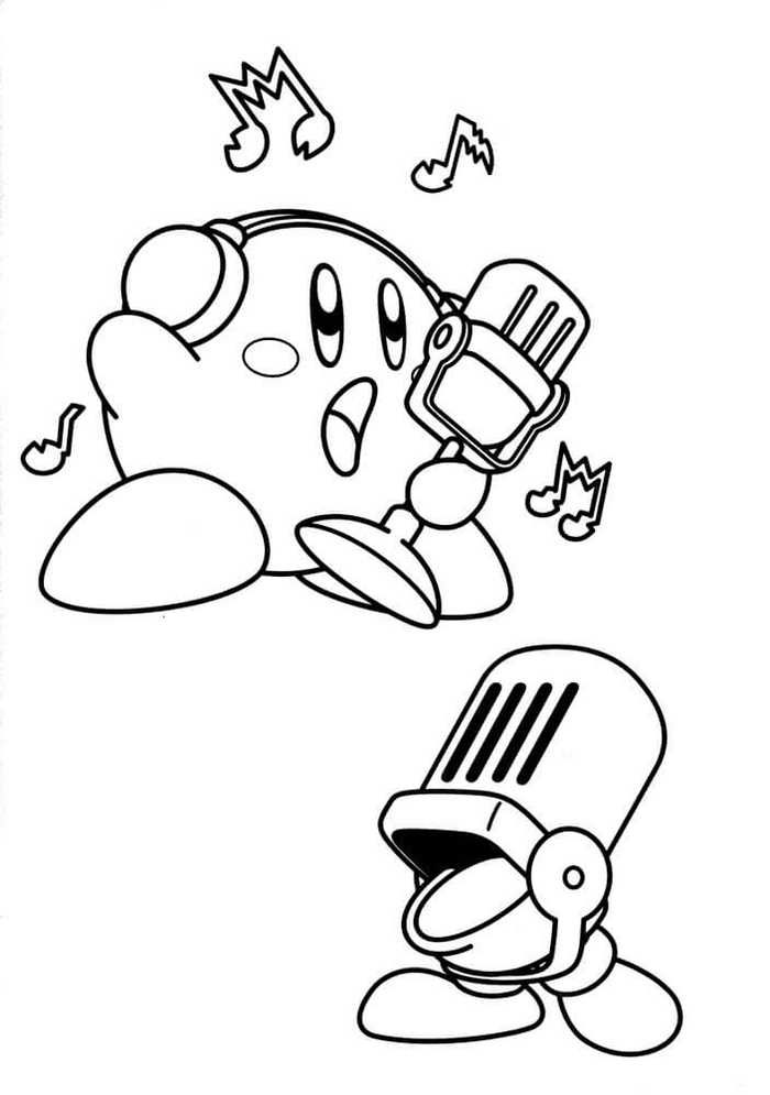 Collection Of Kirby Coloring Pages For Kids Coloring Pages For