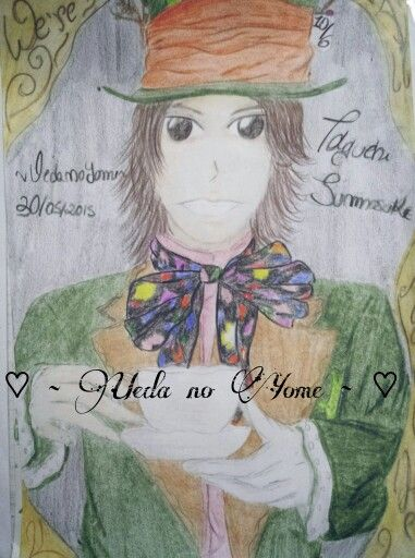 Taguchi Junnosuke fanart inspired by Alice in the Wonderland theme~ Junno as The Mad Hatter