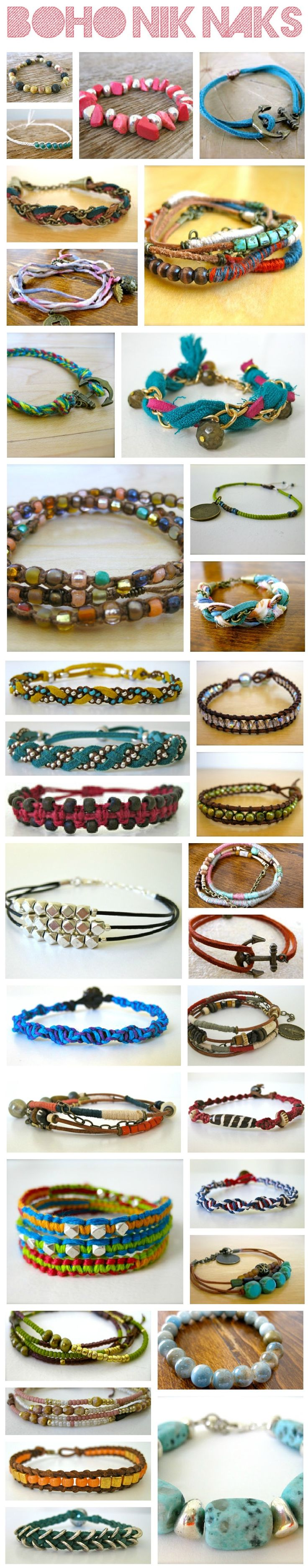Boho Nik Naks! So cute and affordable! :)  http://www.etsy.com/shop/bohoNikNaks: Camping Craft, 926 4 718 Pixels, Fun Ideas, Bijou, Things, 600 3 057 Pixels, Craft Ideas, Bracelet Ideas