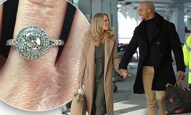 Katie Piper gets a tender kiss from doting fiance Richard James Sutton