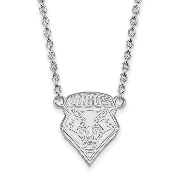 14kw LogoArt University of New Mexico Pendant with Necklace