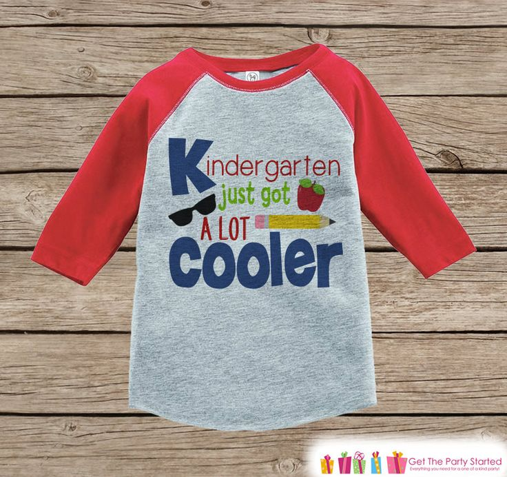 Boys Back to School Shirt - 1st Day of Kindergarten Outfit - Boys Red Raglan Tee - My First Day of School Tshirt - Boys Back to School Top