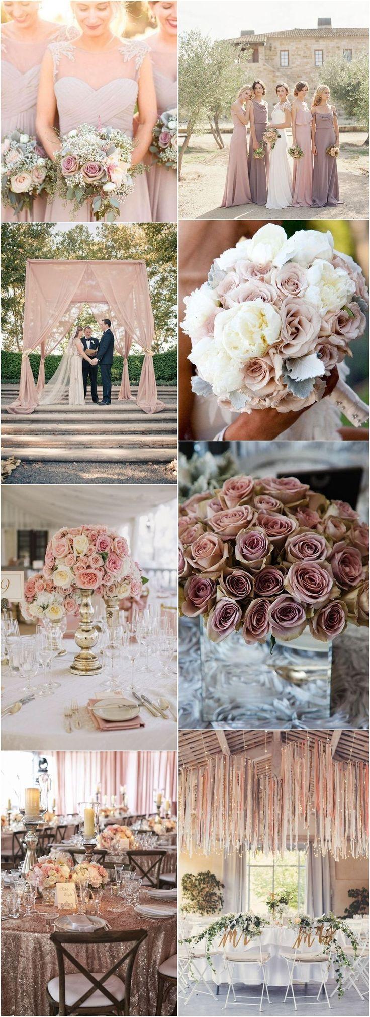 Dusty rose fall wedding color ideas / www.deerpearlflow…