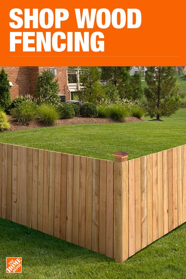 The Home Depot Has Everything You Need For Your Home Improvement Projects Click To Learn More And Shop Available Fencing M Backyard Fences Backyard Wood Fence