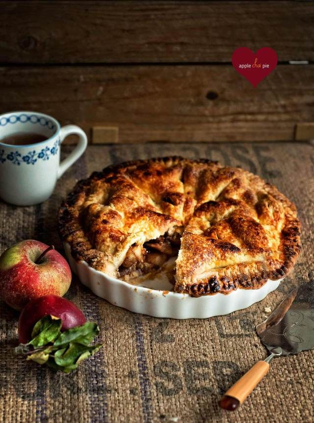 apple chai pie via Box of Spice