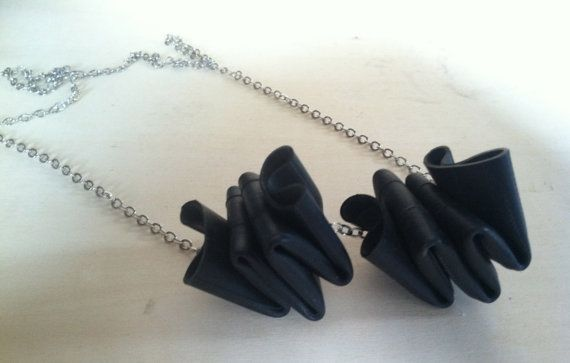 Reclaimed+Rubber+Inner+Tube+Necklace+by+Traashart+on+Etsy,+$24.00