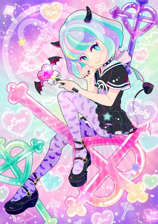 anime kawaii pastel: Pastel And Pastel Goth~
