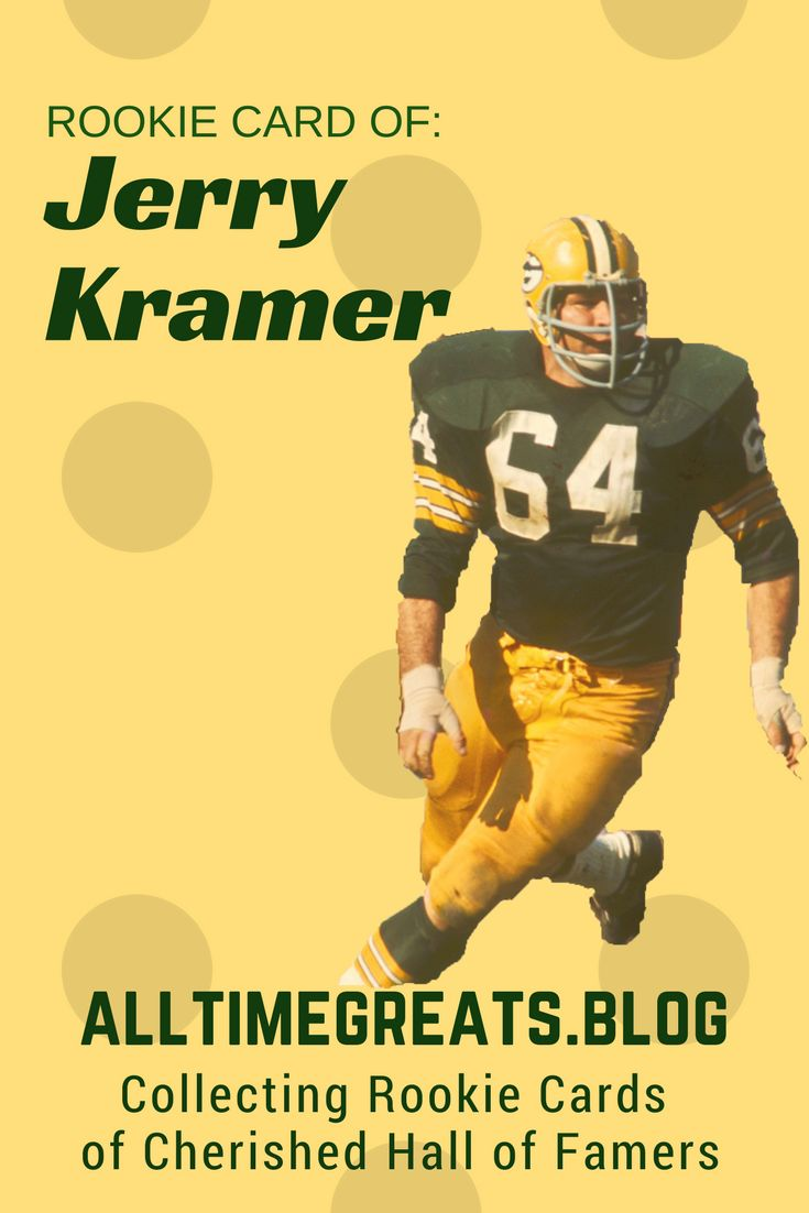 Jerry Kramer (not the guy from the show Seinfeld) nicknamed Zipper, was a 6′ 3″ 245lb Guard that played for the Green Bay Packers between 1958-1968. #sports #cards #collection #collectibles #football #nfl #hobby #wisconsin