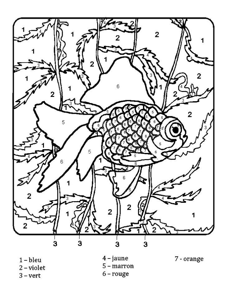 Coloriage Magique Ce1 à colorier - Dessin à imprimer