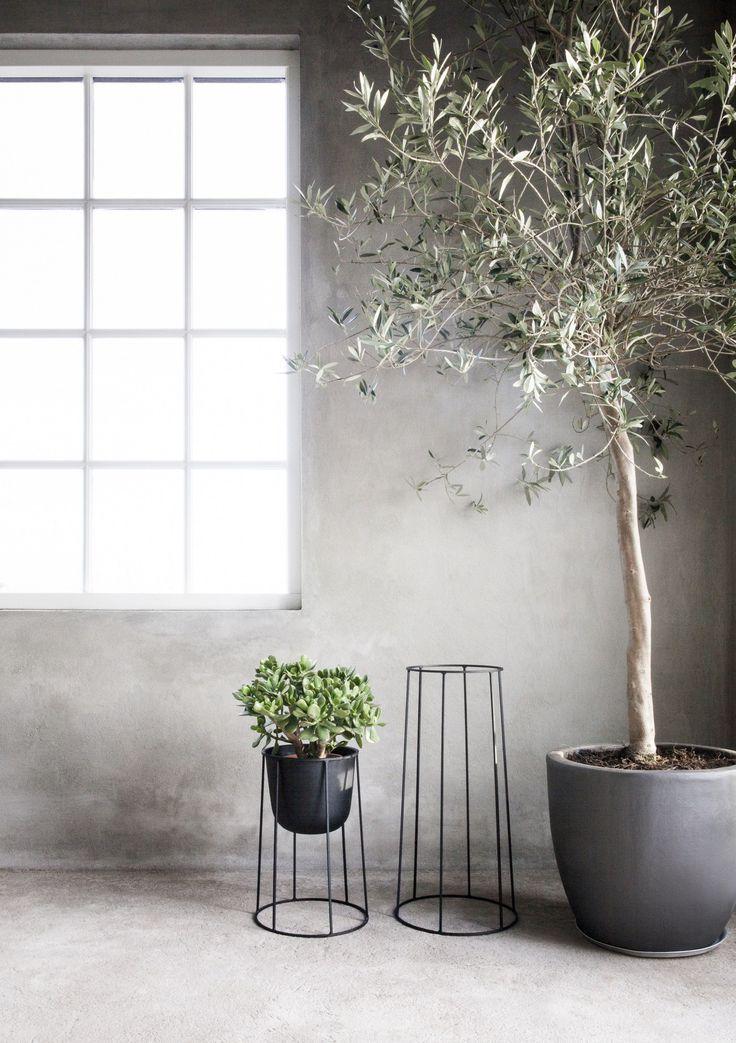 Powder coated steel #vase WIRE POT - @menuworld