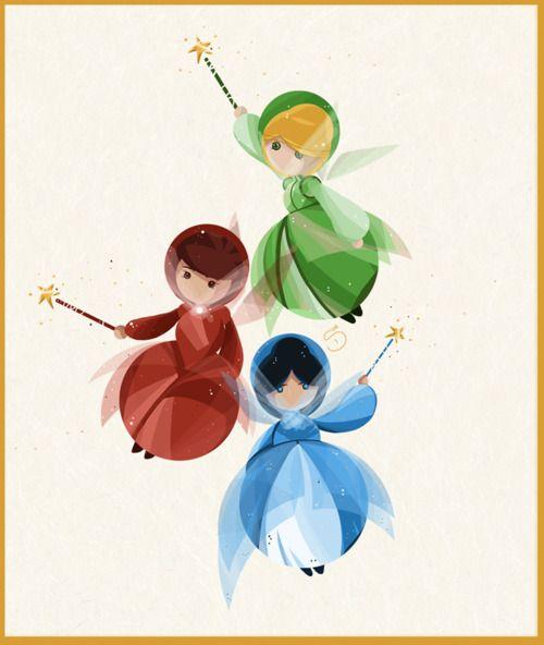 The three good fairies!