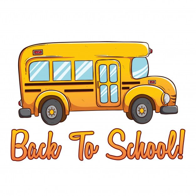 Cute School Bus With Color And Back To School Text Using Hand