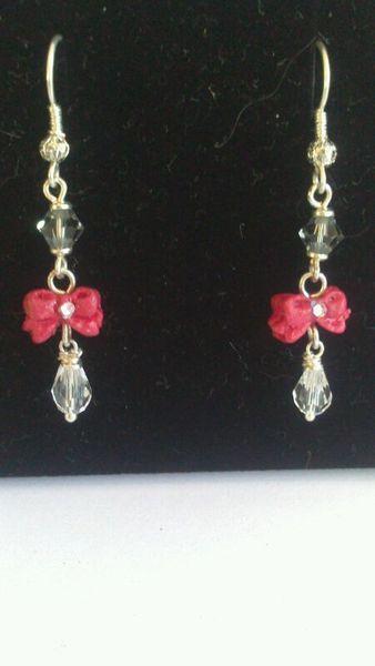 sterling silver bow earings van BeeDelighted Jewelry op DaWanda.com