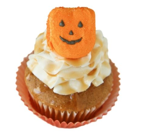 with halloween right around the corner these adorable pumpkin caramel cupcakes are the perfect dessert - Halloween Bakery Ideas