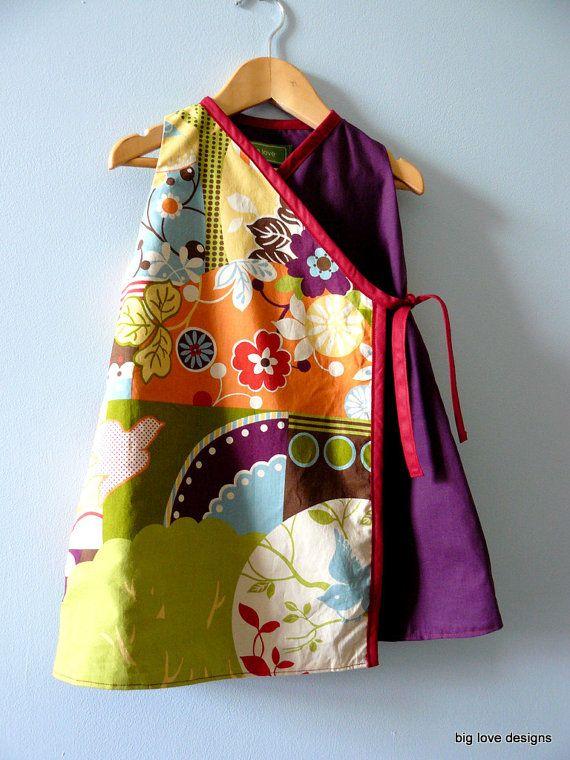 kimono style dress - great fabric inspiration