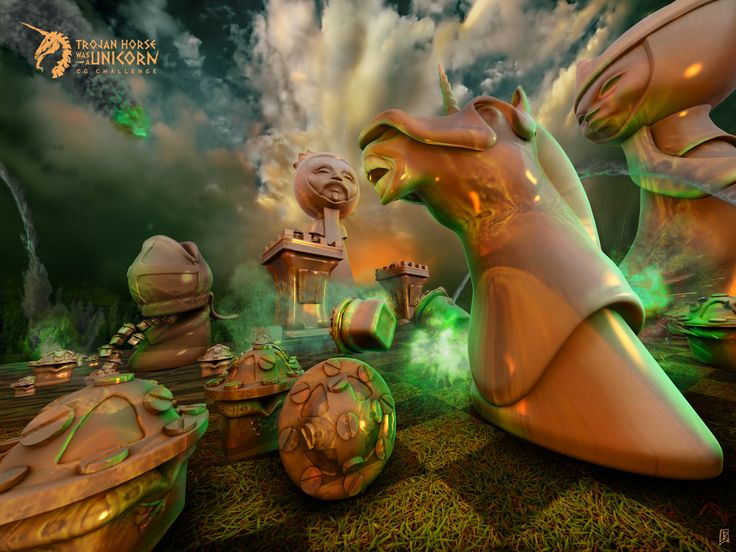 Chessbattle for THU Challenge. Zbrush, Photoshop and 3Dsmax
