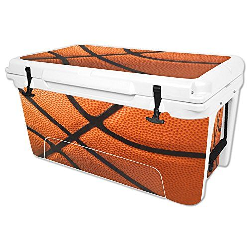 MightySkins Protective Vinyl Skin Decal for RTIC 65 qt Cooler wrap cover sticker skins Basketball * You can find more details by visiting the image link.(This is an Amazon affiliate link and I receive a commission for the sales)