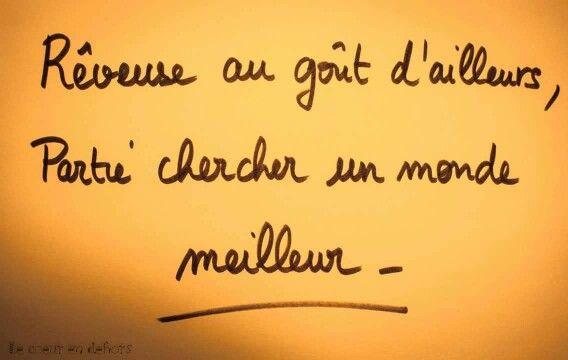 R Veuse Au Go T D Ailleurs Partie Chercher Un Monde