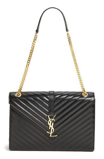Saint Laurent u002639;Cassandre Lisse  Largeu002639; Shoulder Bag available at Nordstrom  my obsession