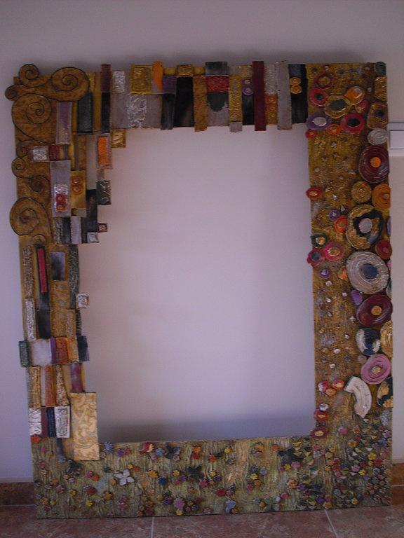 marco para espejo klimt manualidades pinterest klimt ForMarcos De Espejos