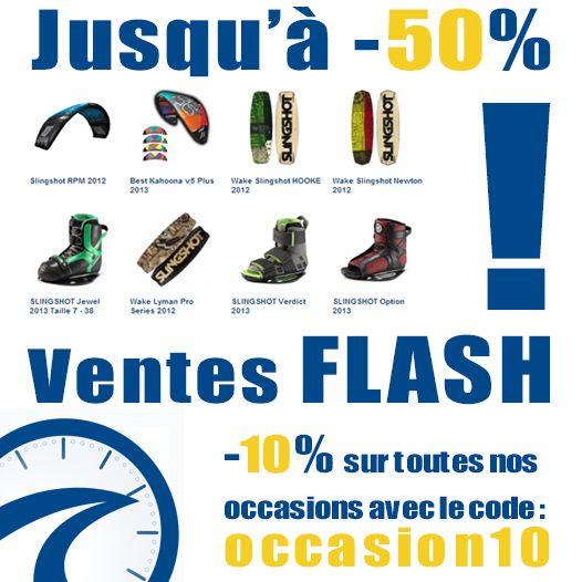 Ventes Flash jusqu'à -50% et -10% sur toutes nos occasions !    | Glissevolution – Ecole et cours de kitesurf, location et randonnées en Jet-ski, Flyboard, Ski nautique, wakeboard, Flyfish, Stand up Paddle, voilerie, surf-shop à La Baule / Pornichet – Loire Atlantique