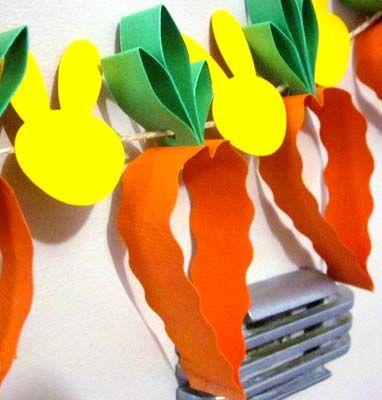 Guirlande Carottes & Lapins de Pâques