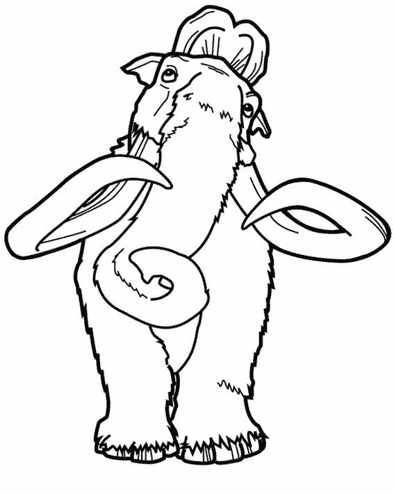 Ice Age 29 Cartoon Coloring Pages Coloring Pages Silhouette Art