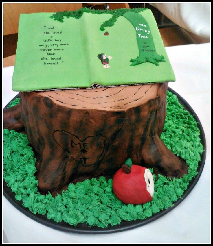 The Giving Tree cake. (The Sweetest Sweets: Bookish Wedding Cakes.)