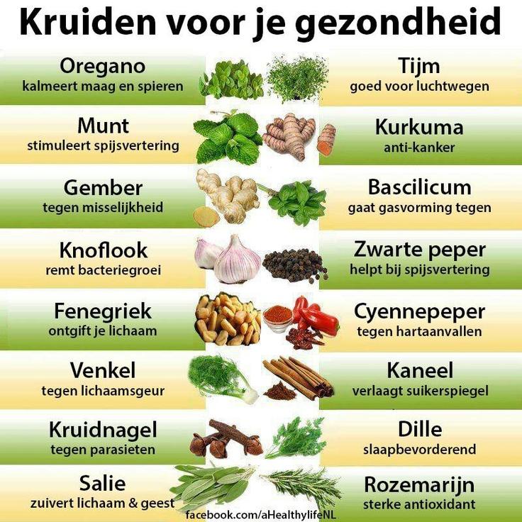 Kruiden voor je gezondheid.....