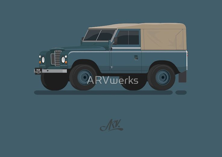 Series 3 SoftTop 3/4  #landrover #landroverseries #series3 #car #illustration #vector #landy #rangerover #defender #rover #british