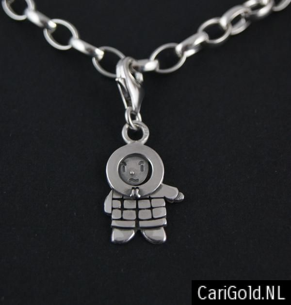 #Anoraknophobia #Barry - #Marillion - Jewellery - Handmade Sterling silver charm/bead (18mm)- BEANR18L to wear on a #bracelet - Designed by Karin Hengeveld - to order check - www.CariGold.nl