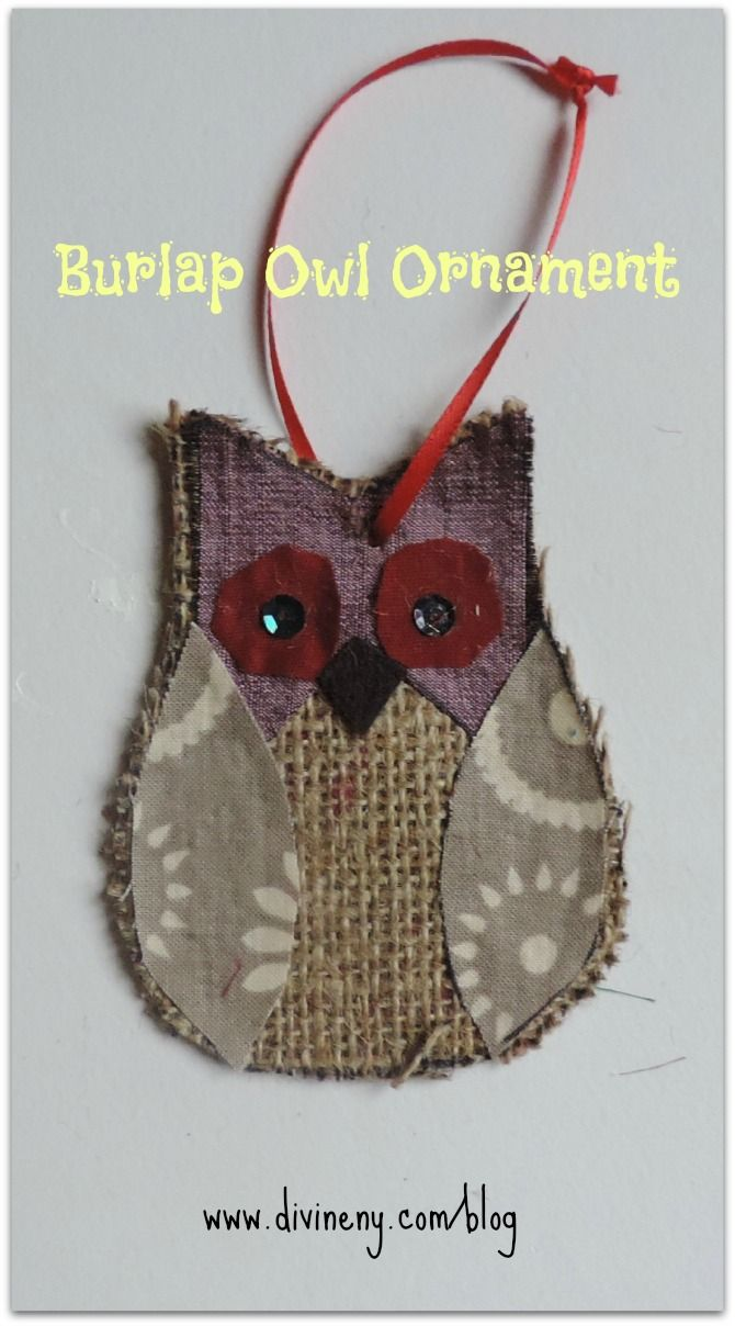 Make this cute burlap owl.  This pin is so popular that I have now put a kit together with fabrics + instructions! Available in my Etsy Shop:  DivineNYCo | divineny.com