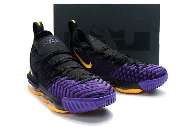 purple and gold nike basketball shoes