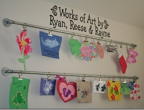 So much better than a bulletin board! For the playroom?