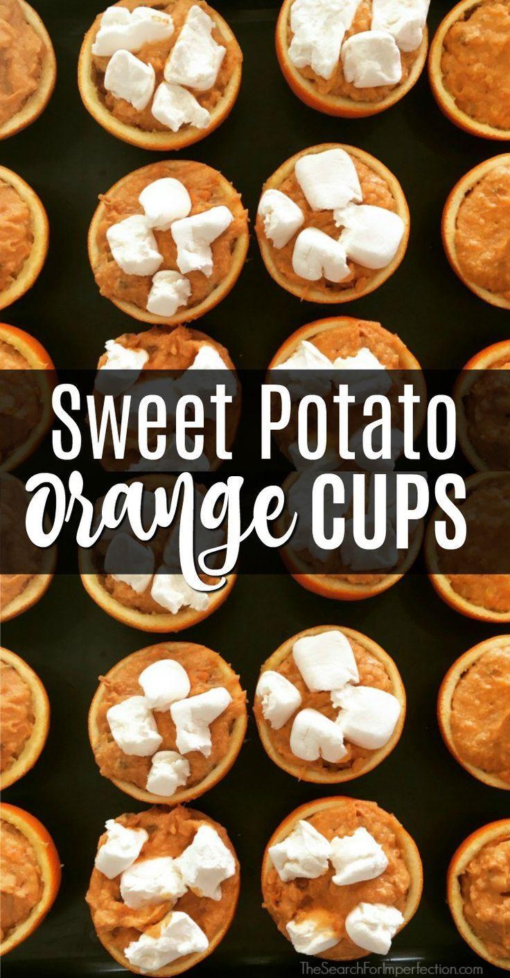 Sweet potato orange cups almost taste like healthy candy! #sweetpotato #holidaysidedish #sidedish