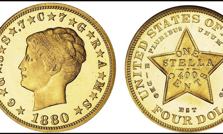 A rare $4 coin made by the US in a bid to join the 19th century version of the European Union. The 'Stella' was proposed by American finance chiefs in the hope it would enable the US to join the Latin Monetary Union (LMU), which was mostly made up of European countries. Today, only six of the coins are still in existence - making them some of the most rare and sought-after pieces in the world.