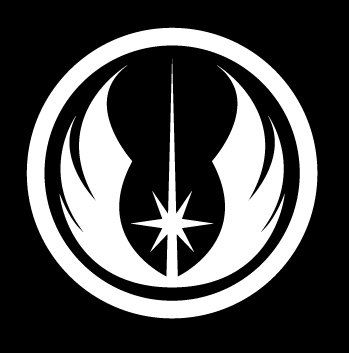Amazon Com Star Wars Jedi Order Logo Vinyl Decal White