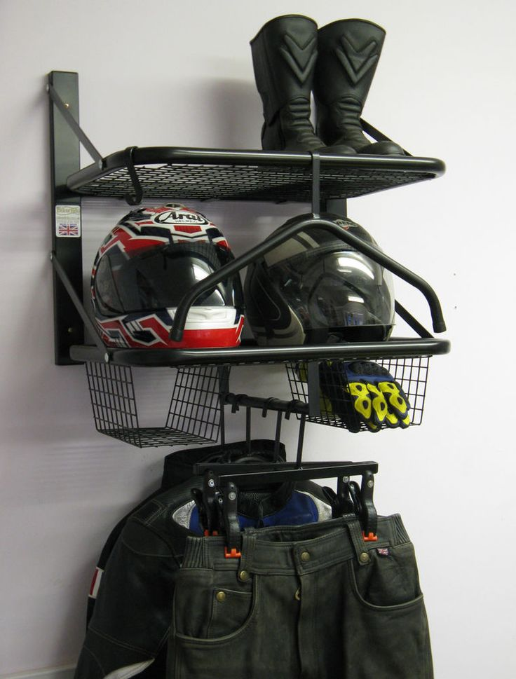 BikerTidy Bike Motorcycle Clothes jacket helmet storage rack cabinets