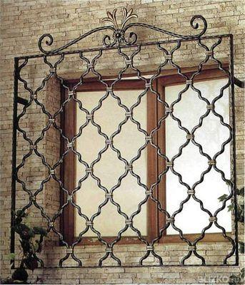 Кованные оконные решетки и решётки на балконе и лоджии